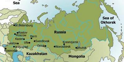 Amerika Gradovi Karta.Rusijos Politinis Zemėlapis Zemėlapis Rusijos Politinio Rytų